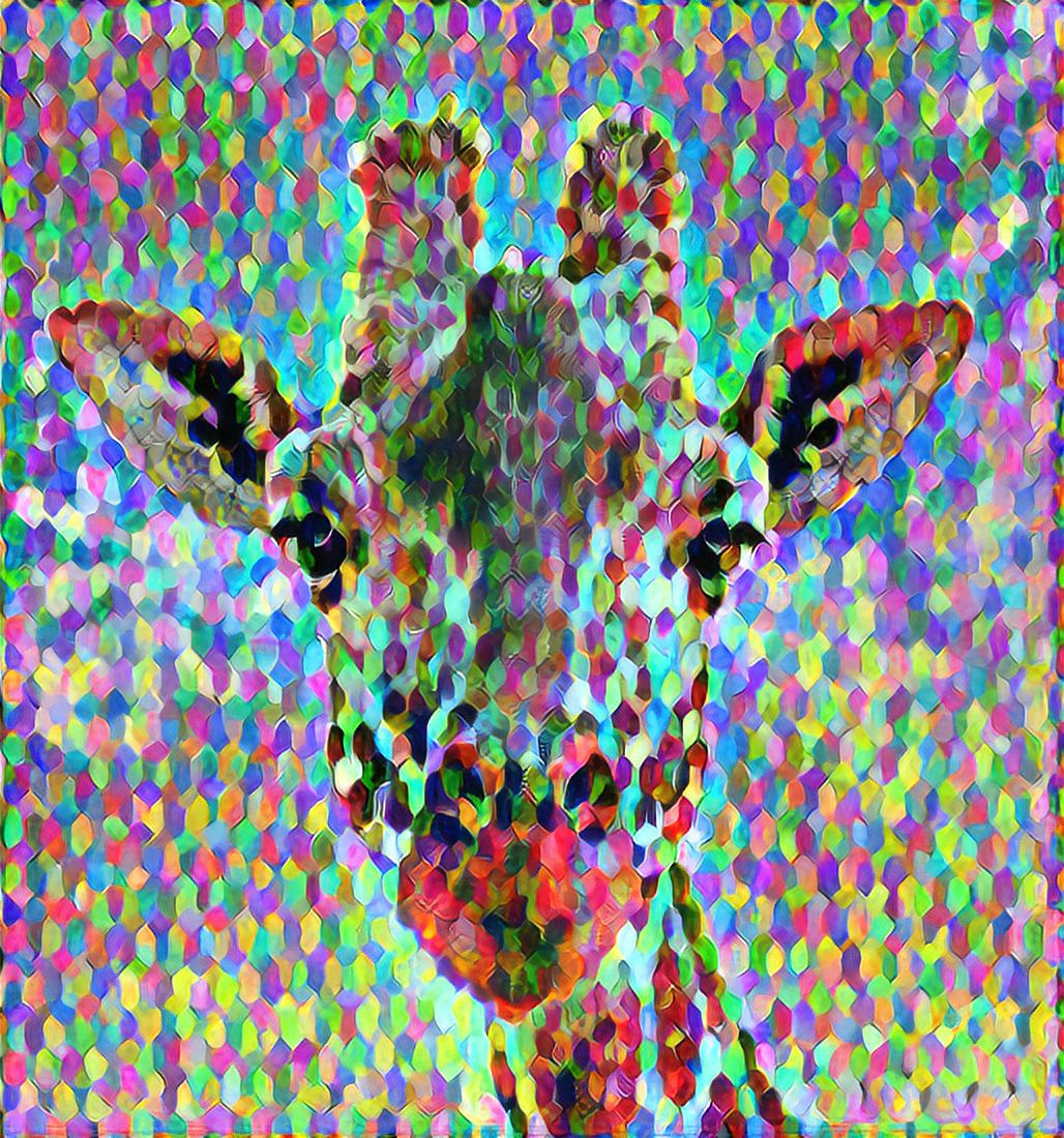Colorful Isometric Giraffe