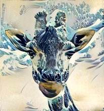 Load image into Gallery viewer, Hokusai Giraffe