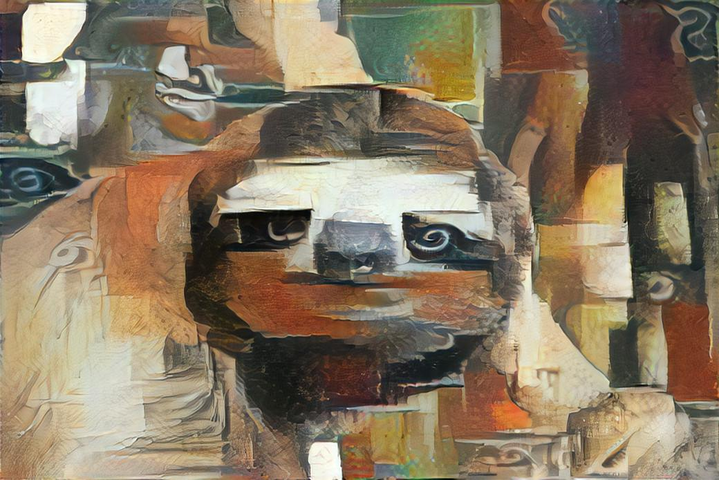 Picasso Sloth 2