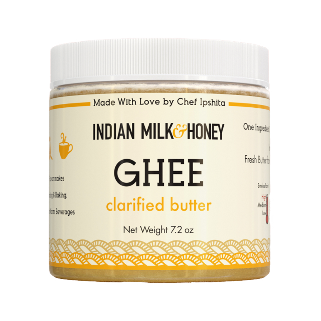 Ghee Clarified Butter 7.2 oz. Jar, Indian Milk & Honey
