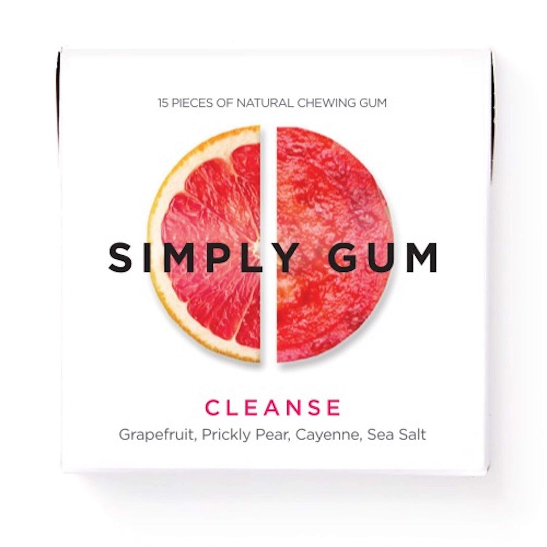 Cleanse Natural Chewing Gum 15 Pieces, Simply Gum