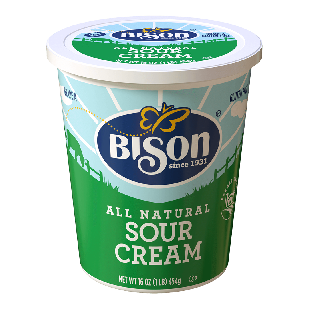 All Natural Sour Cream 16 oz, Bison
