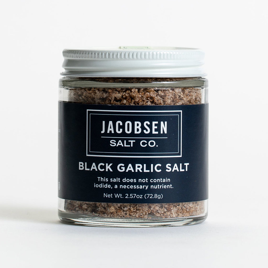 Black Garlic Salt 2.57oz Jar, Jacobsen Salt Co.