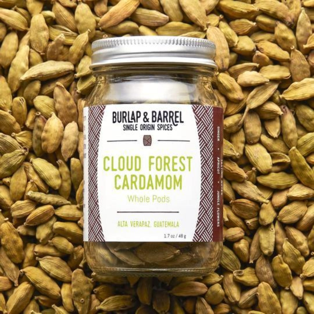 Cloud Forest Cardamom 1.7 oz Jar, Burlap & Barrel