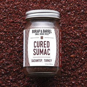 Cured Sumac 2.3 oz Jar, Burlap & Barrel