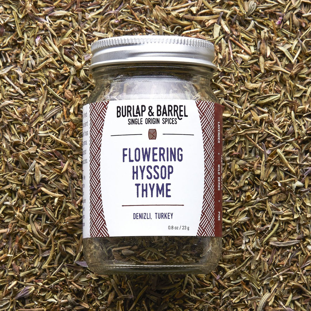 Flowering Hyssop Thyme 0.8 oz Jar, Burlap & Barrel