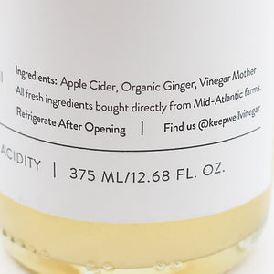 Ginger Vinegar 12.68 oz, Keepwell