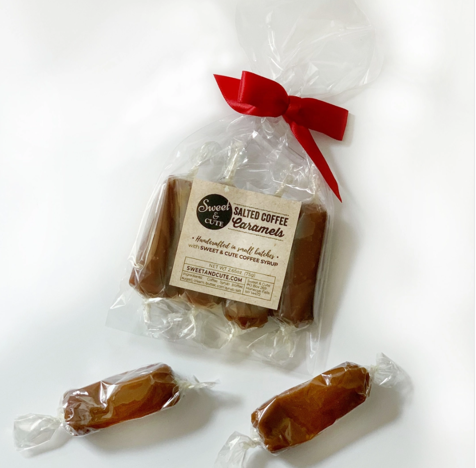 Salted Coffee Caramels (Bag of 4), Sweet & Cute