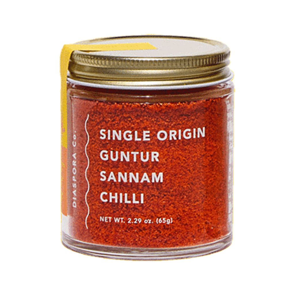 Chili Powder 2.29 oz Glass Jar, Single Origin Guntur Sannam Chili Powder
