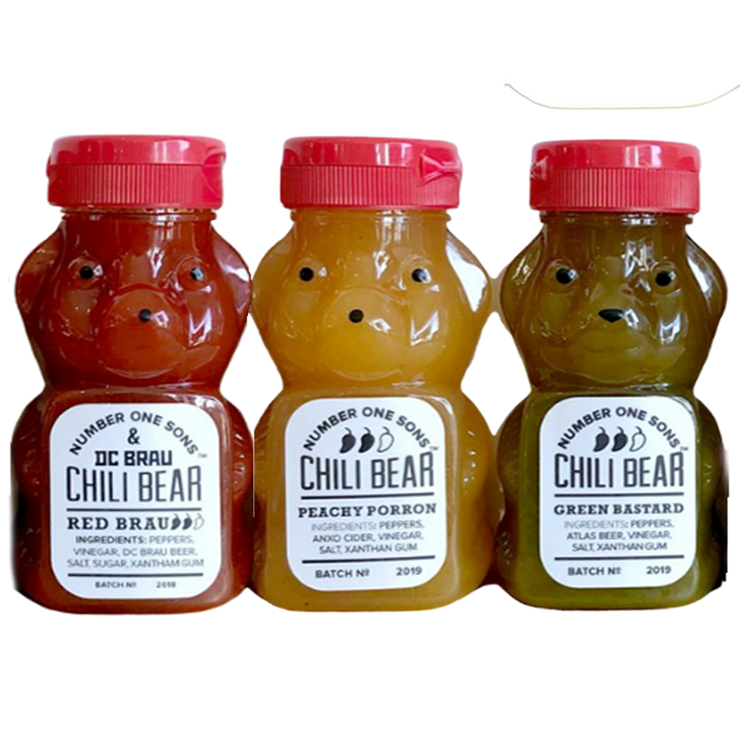 Chili Bear Hot Sauce, Number One Sons