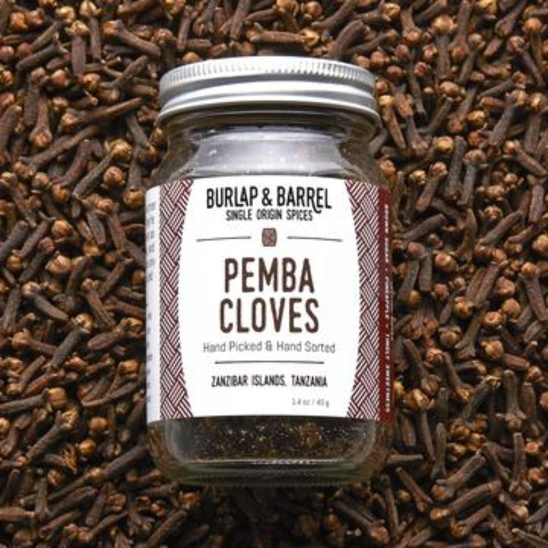 Pemba Cloves 1.4 oz Jar, Burlap & Barrel