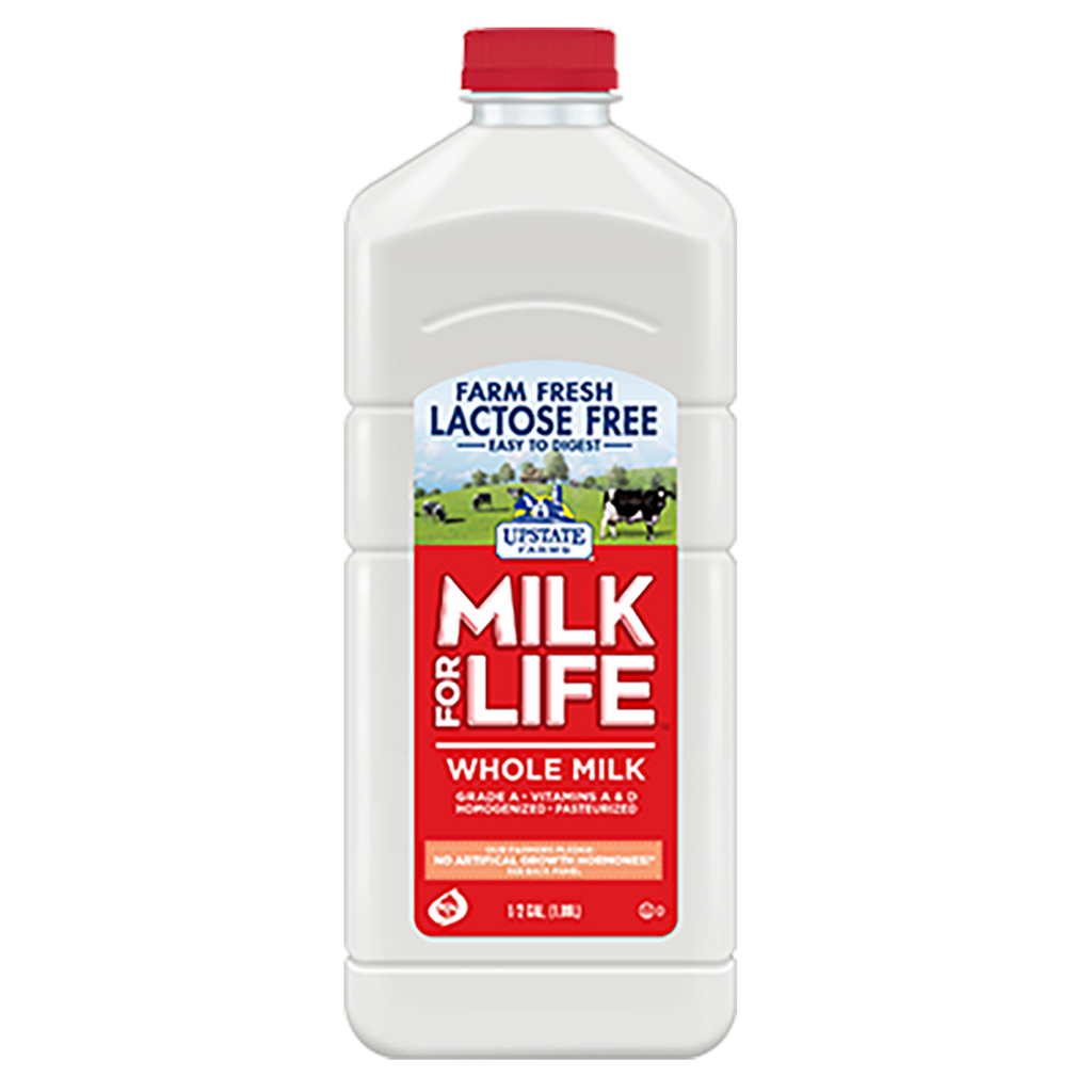 Lactose Free Whole Milk for Life (Half Gallon), Upstate Farms