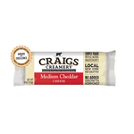 Medium Cheddar 5 oz Cheese Block, Craigs Creamery