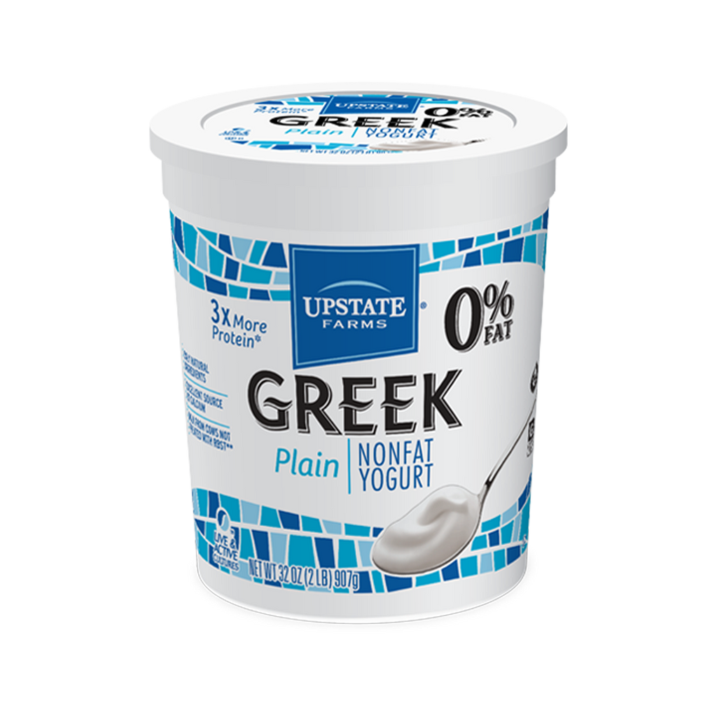 Plain Greek Non-Fat Yogurt 32 oz, Upstate Farms
