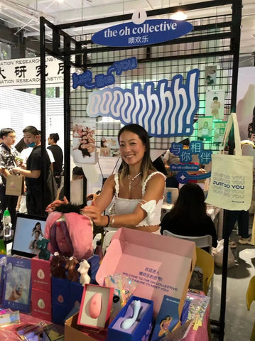 Eden Chiang Cofounder The Oh Collective sexual wellness intimate pleasure start up female founded  Shenzhen Shanghai Maylove Event Sex fair