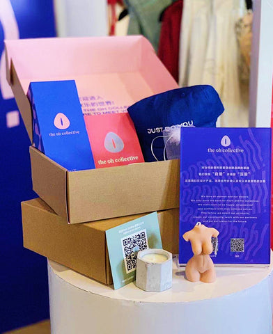 The Oh Collective at Common Rare Shanghai - gift box with kit, pixie and body candles