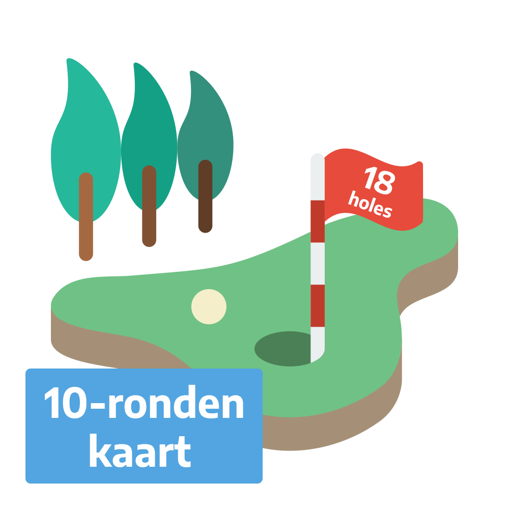 Golf Weesp - Greenfee 18 holes 10-ronden kaart