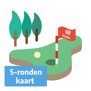 Golf Weesp - Greenfee 18 holes 5-ronden kaart