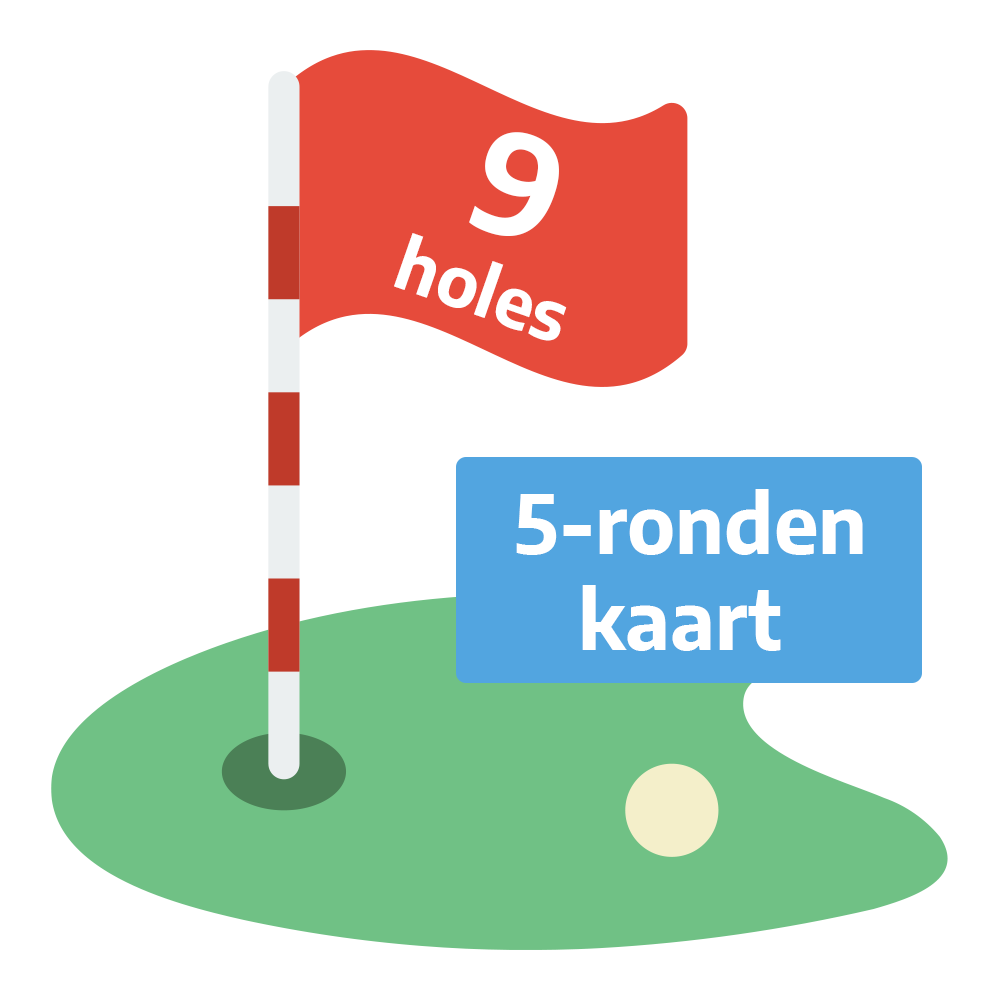 Golf Weesp - Greenfee 9 holes 5-ronden kaart