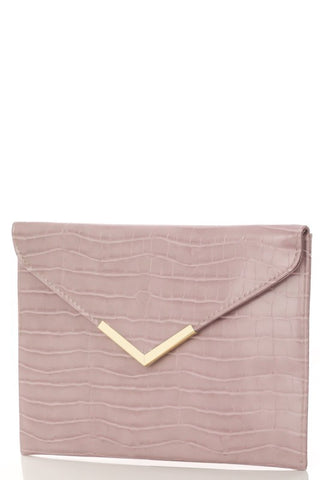 Blush faux Leather Handbag with gold accents