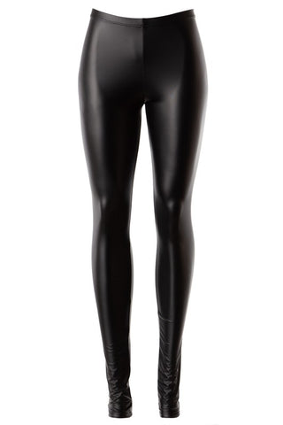 Mid rise pull-on faux leather leggings in S-L