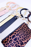 Leopard keychain bracelet with small wallet.