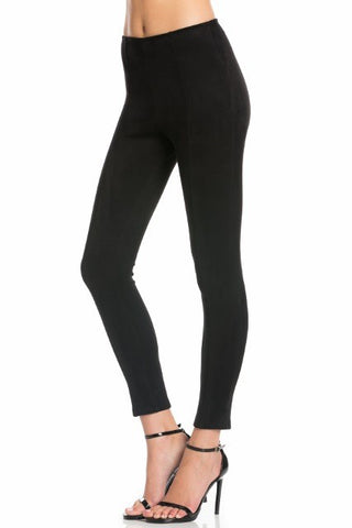 Black faux suede leggings S-L