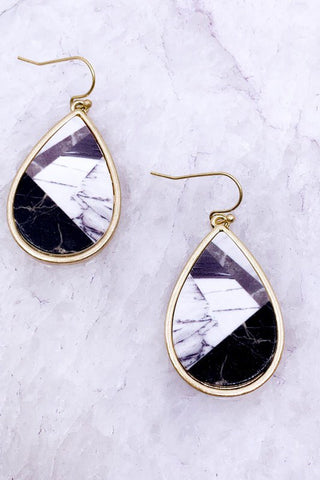 MARBLED TEARDROP EARRINGS