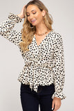 LONG SLEEVE CHEETAH PRINT TOP in S-L