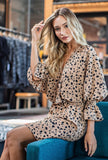 BOHO INSPIRED ANIMAL PRINT WRAP DRESS