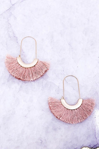 TASSEL EARRINGS IN BLUSH, CRIMSON, TEAL, OR IVORY