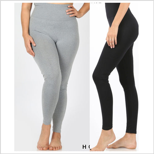 High Waist Leggings | Black | +Plus