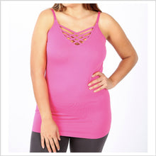 Load image into Gallery viewer, Lattice Cami | Pink | +Plus