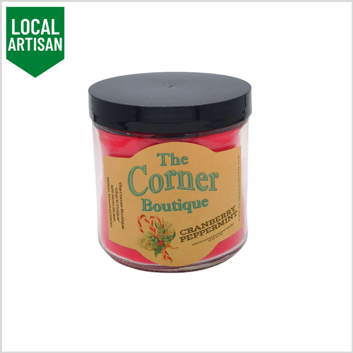 Soy Candle | Cranberry and Peppermint 12oz