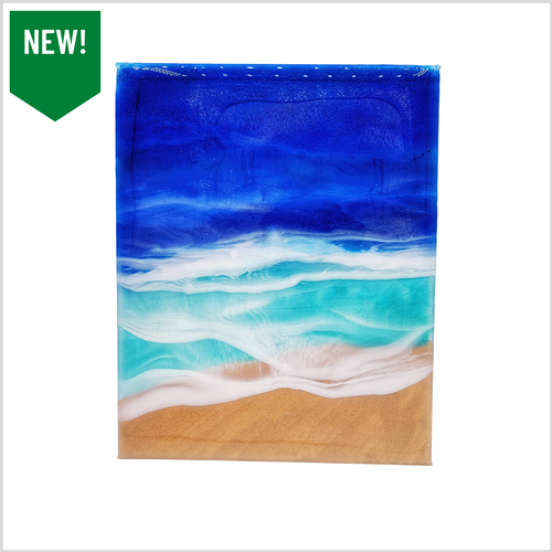 Ocean Waves Resin Art 8x10
