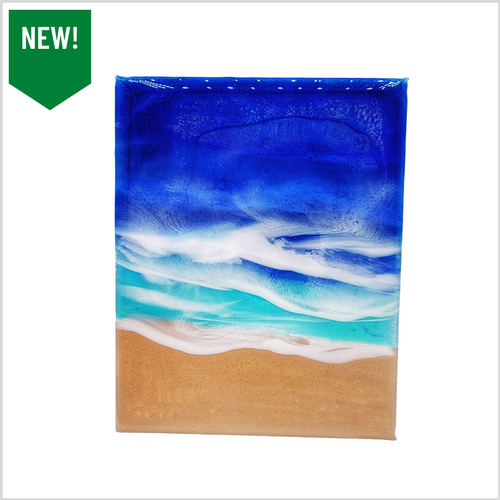 Ocean Waves Resin Art Two 8x10