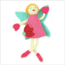 Load image into Gallery viewer, Felt Tooth Fairy Pillow - Purple Wings