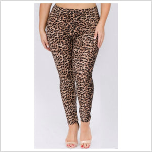 Leopard Legging | +Plus