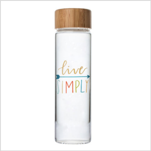 Glass Water Bottle | Live Simply