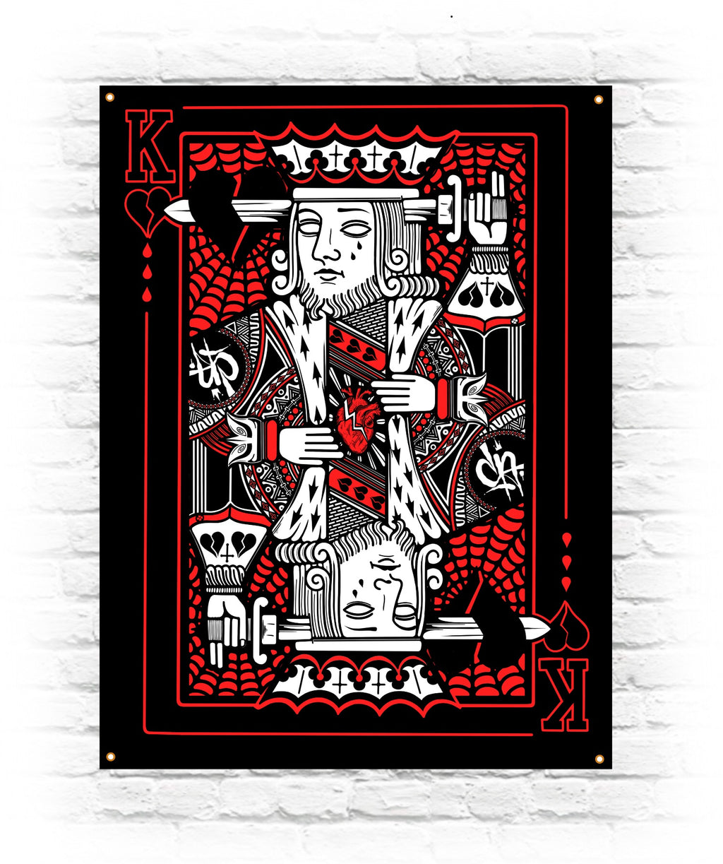'King Of Heart Breaks' Wall Flag