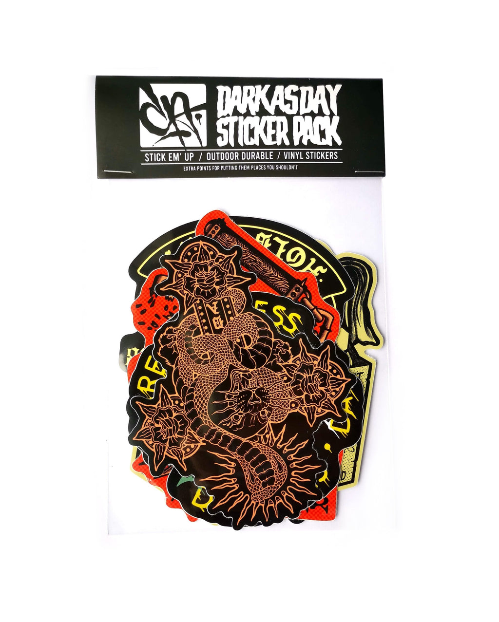 Dark As Day Sticker Pack