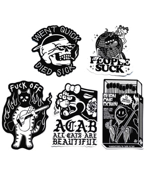 Dark As Day Monochrome Sticker Pack