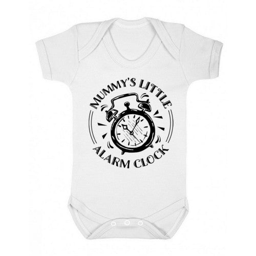 Front - FLOSO Baby Girls/Boys Mummys Little Alarm Clock Short Sleeve Bodysuit