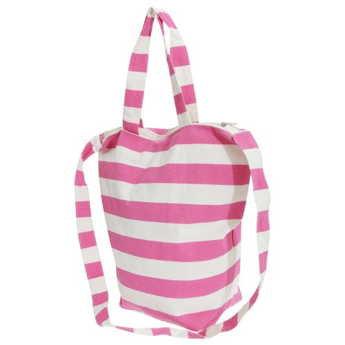 Front - FLOSO Womens/Ladies Striped Summer Handbag With Shoulder Strap