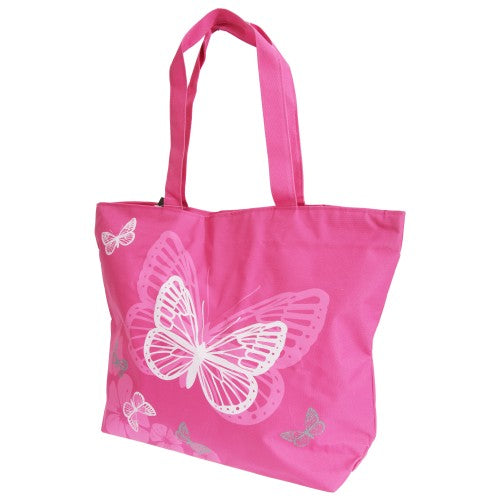 Front - FLOSO Womens/Ladies Floral Butterfly Design Handbag