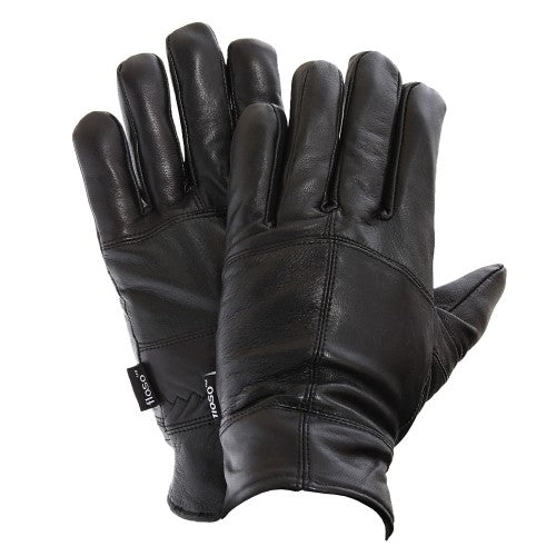 Front - FLOSO Mens Thinsulate Lined Genuine Leather Gloves (3M 40g)