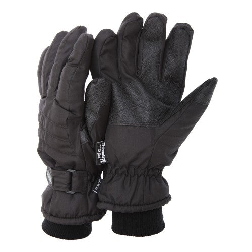 Front - FLOSO Mens Thinsulate Padded Thermal Gloves With Palm Grip (3M 40g)