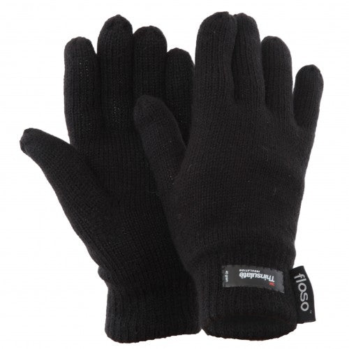 Front - FLOSO Ladies/Womens Thinsulate Thermal Knitted Gloves (3M 40g)