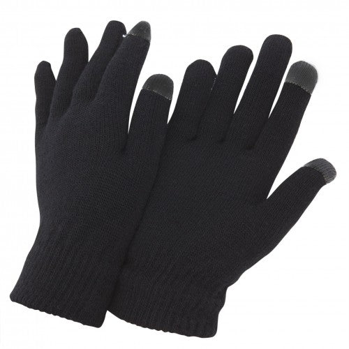 Front - FLOSO Mens IPhone/iPad Mobile Touch Screen Winter Magic Gloves