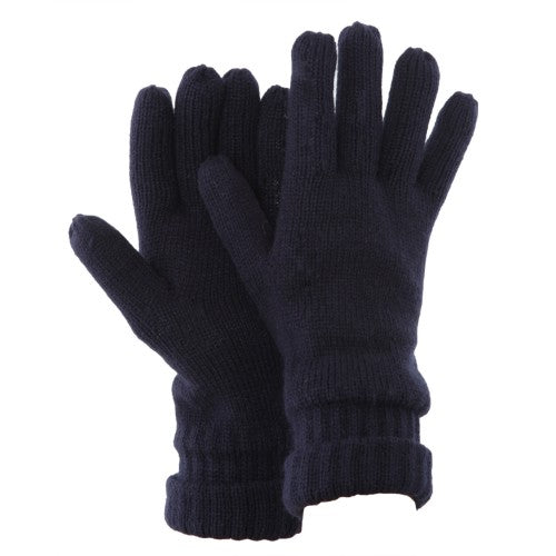Front - FLOSO Mens Thinsulate Knitted Winter Gloves (3M 40g)